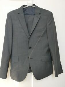 Marks & Spencer Autograph Tailored Fit Mens Suit - 38S & 32/31, Grey, Great cond