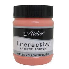 Atelier Interactive Acrylic Paint 250ml 1625 - Naples yellow reddish