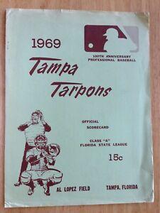 TAMPA BASEBALL BEFORE THE RAYS: 1969 TARPONS; FSL; CINCI REDS; GREAT ADS MINORS!