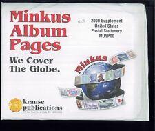 2000 US Postal Stationery Minkus Stamp Album Supplement Pages #MUSP00