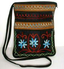 Embroidery Flower Crossbody Bag Purse Travel Women