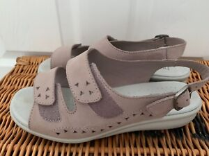 HOTTER EASY SANDALS SIZE 6 STD FIT LIGHT PINK LOVELY CONDITION