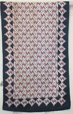 TERRIART Navy, Pink Children, Hearts, Flowers 42x13 Long Scarf-Vintage