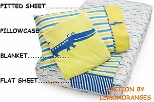 ZUTANO ALLIGATOR TODDLER 4 PIECE BED SET FITS BABY CRIB OR TODDLER MATTRESS