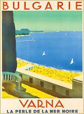 Varna Seacoast Bulgaria Vintage Europe Travel Advertisement Art Poster Print