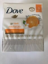 Dove Beauty Bars with Mandarin & Tiare Flower Scents X 3 Fresh 3.17oz each Htf