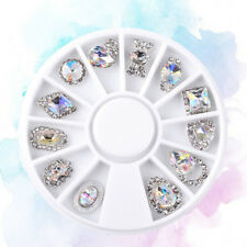 Nail Art Wheel Rhinestone Diamond Gems Metal Ab Crystal 3D Tips Accessoires Pl