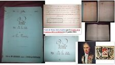 Document 1863 famille Noble France: Comte DE LA SELLE & Roullet de La Bouillerie