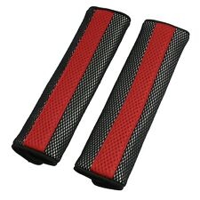 New One Pair  Motor Detachable Fastener Red Seatbelt Cover Pad