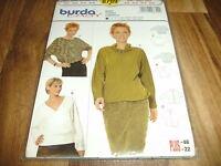 BURDA-PLUS+EASY Schnittmuster 8709                 3x  SHIRT               34-48