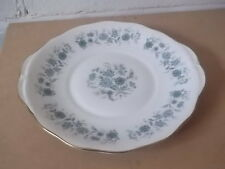 TWIN HANDLED COLCLOUGH BREAD PLATE WITH BLUE FLOWERS