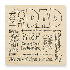 Stampendous Rubber Stamp ' DAD WORDS'     RQ144