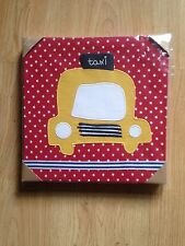 NEW MAMAS AND PAPAS MADE WITH LOVE CAR CANVAS BOYS NURSERY PICTURE RRP £45