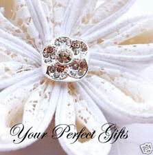 10 Square Rhinestone Crystal Diamante Button Buckle