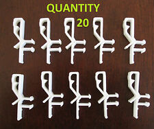 20 pcs Hidden Valance Clips for Fauxwood or Wood Blinds