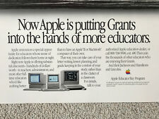 "POSTER ""Now Apple is putting Grants in..."" Apple II Macintosh Education - RARE"