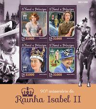 S Tome & Principe 2016 MNH Queen Elizabeth II 90th 4v M/S Royalty Big Ben Stamps