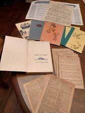 Antique ephemera lot. Scrapbooking /junk journal.  1900-1950. Sheet music.