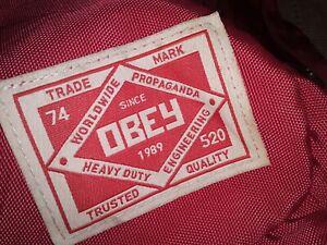 Vintage Obey Backpack Red