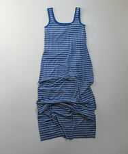 NWoT Anthropologie Bailey 44 Rainbow Fish Blue Striped Jersey Maxi Dress S $173