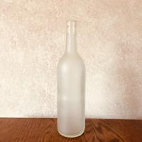 Empty Frosted Wine Bottle