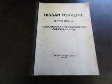 Nissan NFG101 FG102 FG103 Forklift Service Manual