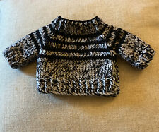"""Handmade """"TEDDY Jumper """" hand knitted jumper For 10-12"""" Teddy Doll Or Jellycat"""