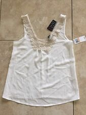 NWT Miss Chievous Juniors' Crochet-Trim Snow Drift Tank Top Size S (Macy's)