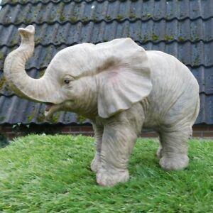 Gartenfigur Elefant Baby ca. 32cm stehend 11140 Haus Garten lebensecht Figur
