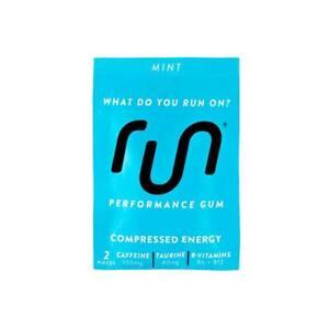 RUN GUM Mint Energy Gum 50mg Caffeine Per Piece 12 pkts, 24pc Free Ship BB 09/20