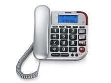 BRONDI TELEFONO FISSO  BRAVO 50 LCD SILVER DISPLAY AUDIO AMPLIFICATO