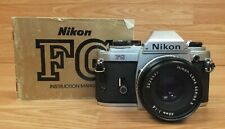 Genuine Vintage Nikon FG Film Camera With 50mm 1:1.8 Series E Lens & Manual