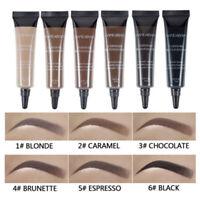 Eye Brow Tattoo Tint Dye Gel Eyebrow Cream + Brush Kits Waterproof Long Lasting