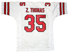 ZACH THOMAS SIGNED AUTOGRAPHED TEXAS TECH RED RAIDERS #35 WHITE JERSEY COA