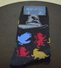 Harry Potter Socks Shoe Size 6-12 New Loot Crate JK Rowling Sorting Hat Adult