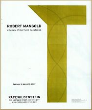 2007 Robert Mangold Column Structure Paintings PaceWildenstein  Gallery Ad