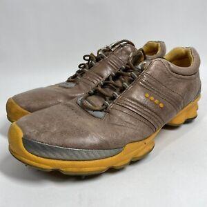 ECCO Biom Hybrid Hydromax Golf Shoes Brown Orange Size 45 US Size 11