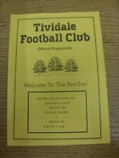 12/09/1992 Tividale Reserves v Cheslyn Hay  (4 Pages, folded). Unless previously
