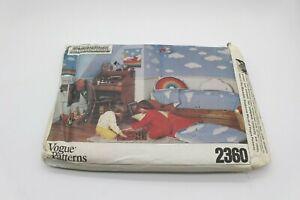 Vogue Patterns 2360 Cloud Room Childs Sleeping Bag Pillow Mobile Rainbow Vtg Kid