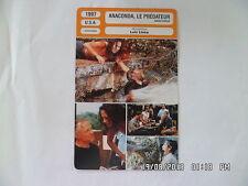CARTE FICHE CINEMA 1997 ANACONDA LE PREDATEUR J.Lopez