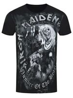 Iron Maiden Number of the Beast Grey Tone Mens Black T-Shirt