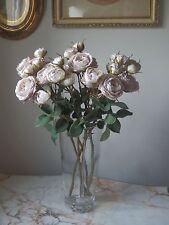 Réaliste Qualité Vintage Délavé Rose arbustive rose spray fleurs en soie vendus en deux's