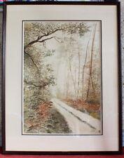 aquarelle peinture tableau sous bois Costel 86