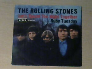 "7"" THE ROLLING STONES * Let`s Spend the Night Together / Ruby Tuesday"