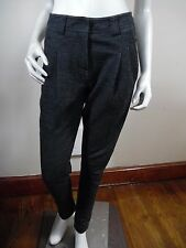 Lululemon Sit And Be Still Pants in Charcoal Gray Pleated Merino Wool Sz 6 Small