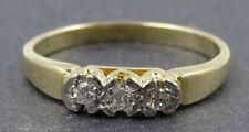 Womens 18ct Yellow & White Gold Diamond Ring Engagement VINTAGE Jewellery
