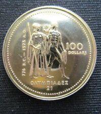 100 Dollar Elisabeth Canada 1976 585/1000 Pièce en Or