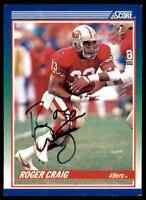 1990 Score Roger Craig Autograph Jsa Auction Coa Auto Washington Redskins #100