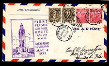 1932 FIRST FLIGHT AIR MAIL ROUTE AM 29 BATON ROUGE, LA TO HEALEAH, FL (ESP#1008)