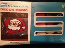 "Spinnerin Decor Magic ""Santa Claus 15"" x 15"",  Latch Hook Kit No. 9237"